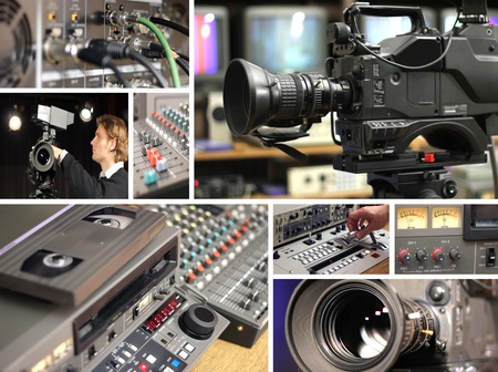 recording studio: Television Equipment Stock Photo