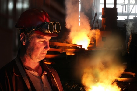 Hard work in a foundry photo