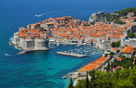 Dubrovnik, Adriatic Sea in Croatia photo