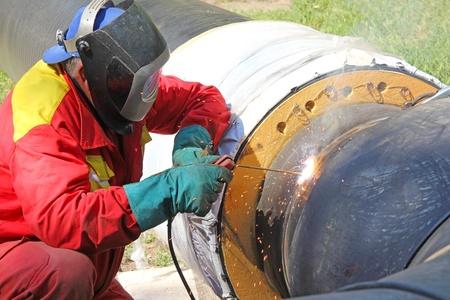 soldador: Soldador en el trabajo