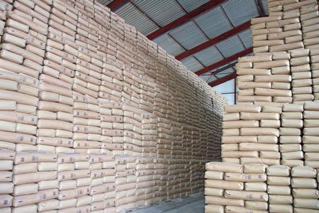 Sweet Wall - Sacks of Sugar in a Warehouse Imagens