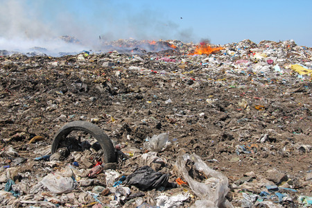 Pollution, dumping of garbage Stock fotó