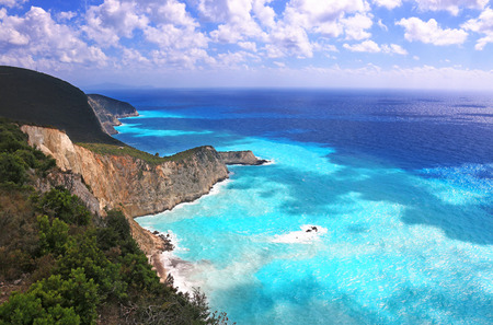 Clear blue sea near Porto Katsiki beach on the Ionian island of Lefkada, Greece