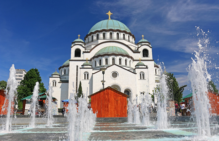 Temple of Saint Sava in Belgrade - Serbia, the largest Orthodox church in the Balkans