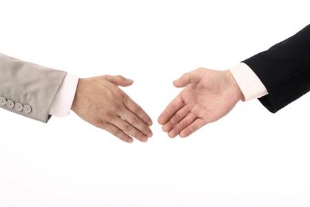 Handshake between two businessmen Stock Photo
