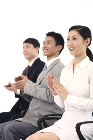 Business people clapping hands Stock Photo - 4194462