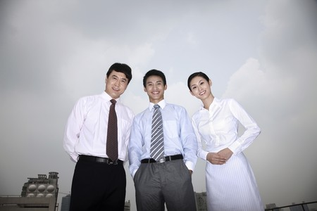 Business people smiling Stock Photo - 4194693