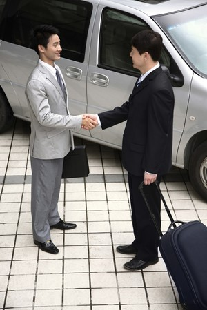 Businessmen shaking hands Stock Photo - 4194684