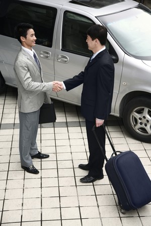 Businessmen shaking hands Stock Photo - 4194720