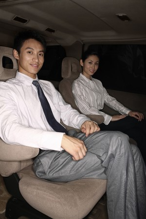 Business people traveling together in the car Stock Photo - 4194787