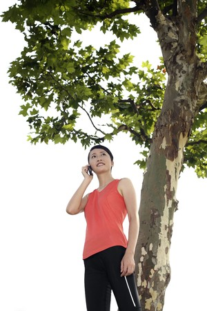 Woman talking on the phone Stock Photo - 4194683