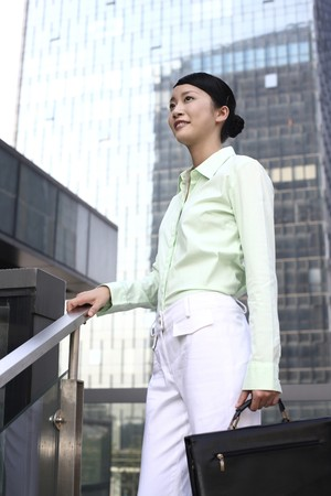 Businesswoman with briefcase Stock Photo - 4194327