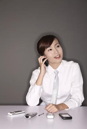 Businesswoman talking on the phone Stock Photo - 4194580
