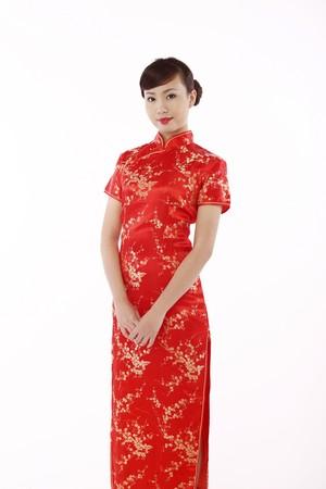 Woman wearing cheongsam photo