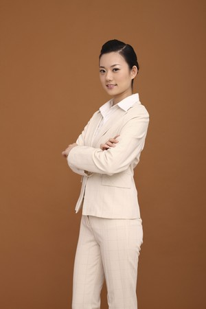 Businesswoman with arms crossed photo