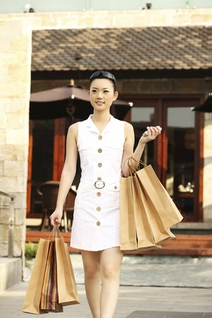 Woman with shopping bags Stock Photo - 4197556