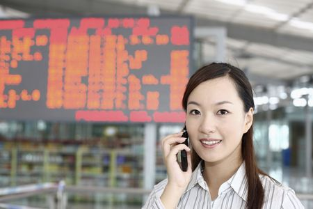 Woman talking on the phone Stock Photo - 4630212