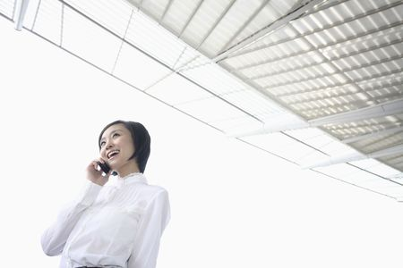 Woman talking on the phone, smiling Stock Photo - 4630708