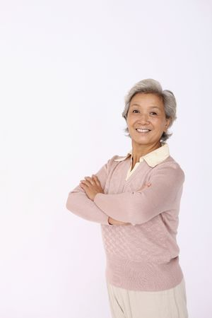 Senior woman smiling and posing for the camera