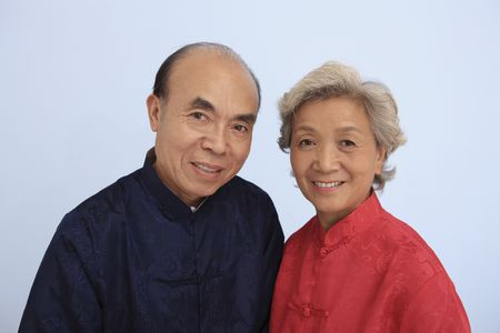 Senior man and senior woman posing for the camera Stock Photo - 4636189