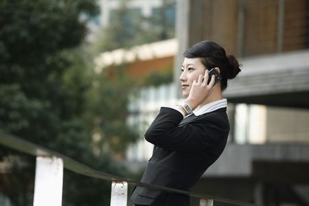 Businesswoman talking on the phone Stock Photo - 4636191