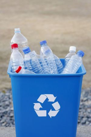 Plastic bottles and recycle container