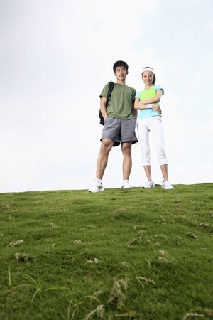 Man and woman posing photo