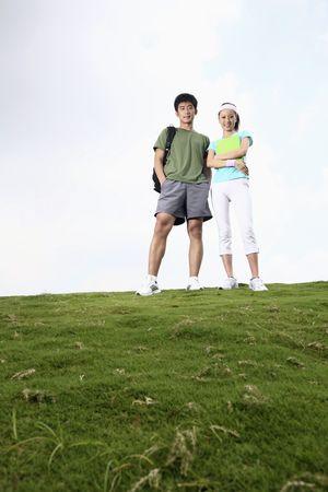 Man and woman posing photo