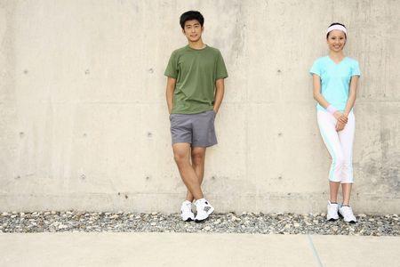 sports shoe: Man and woman posing