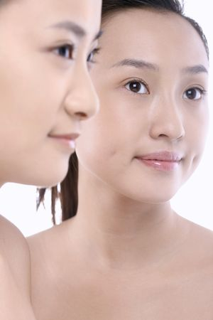Two beautiful young women with nice complexion Stock Photo - 4780282
