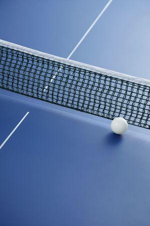 tennis de table: Tableau balle de tennis sur la table de ping-pong