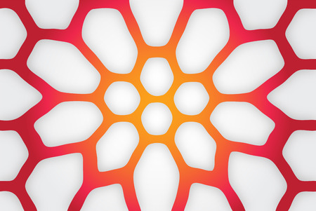 fresh colors: Simple abstract illustration in fresh colors - graphic background Illustration