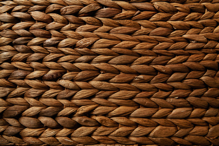 Wicked banana leaves basket detail texture – recycling handmade product