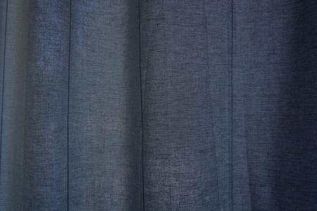 Wavy blue linen fabric texture Stok Fotoğraf