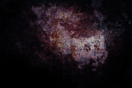 Scary background - black red eroded metal texture Stok Fotoğraf