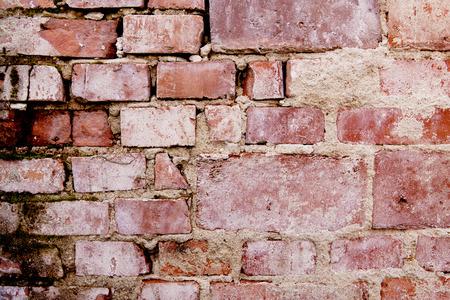 Weathered brick wall texture detail horizontal masonry