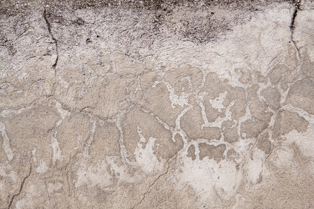 Grunge concrete wall eroded with cracks background
