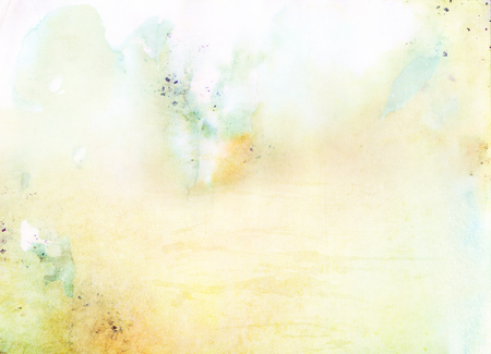 Colorful blank paper with watercolor liquid colored stains graphic background