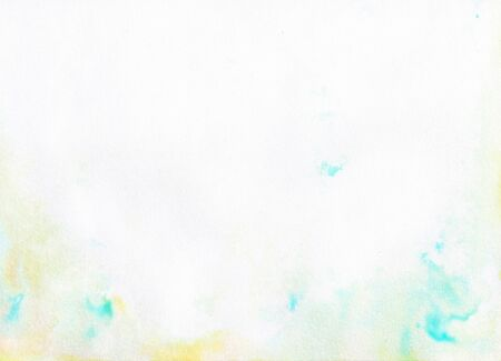 White paper texture with blue watercolor stains, background for graphics