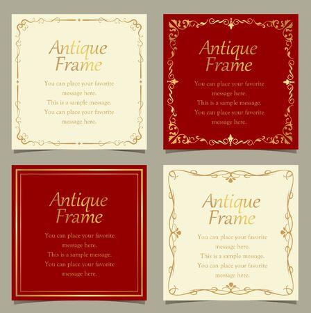 Vintage vector Set. Floral elements for design of monograms, invitations, frames menus, labels and websites. Graphic elements for design of catalogs and brochures of cafes, boutiques 向量圖像