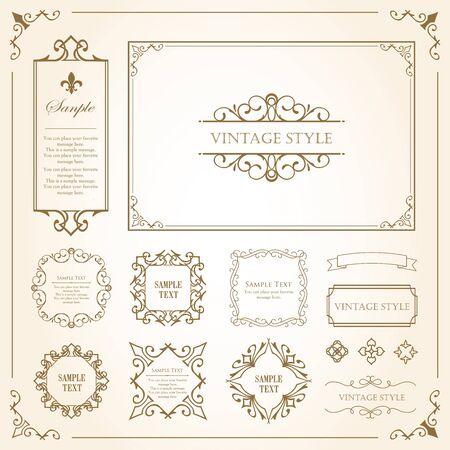 Drukuj Dekoracyjny piękny materiał z poczuciem jakości. Dekoracja. kartka z życzeniami. Dekoracja premium. Projekt biletu. Antyczne linie rządzące. Wysokiej jakości obramowanie pudełka. Szablon projektu.