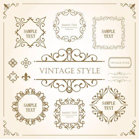 Drucken Sie dekoratives schönes Material mit einem Sinn für Qualität. Dekoration. Grußkarte. Premium-Dekoration. Ticket-Design. Antike linierte Linien. Hochwertiger Kastenrand. Designvorlage.