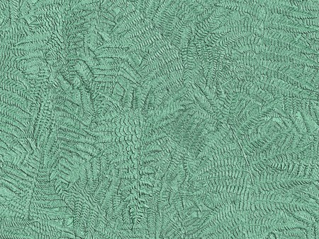Metallic copper oxidized fern background