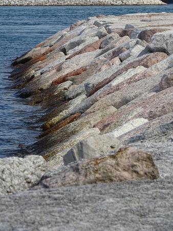 Kunstmatige rotsblokken Stockfoto