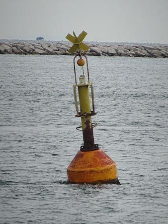 Yellow warning buoy