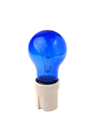Light bulbs Blue isolated on white