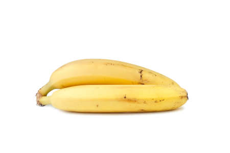 Two Yellow Bananas isolated on the white background