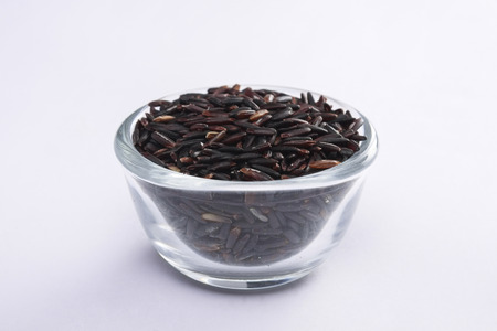 rice berry in cup Stock Photo
