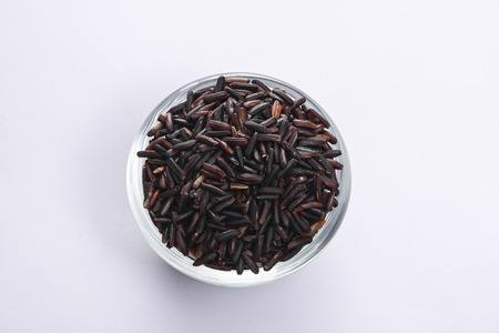 milliliters: rice berry in cup Stock Photo