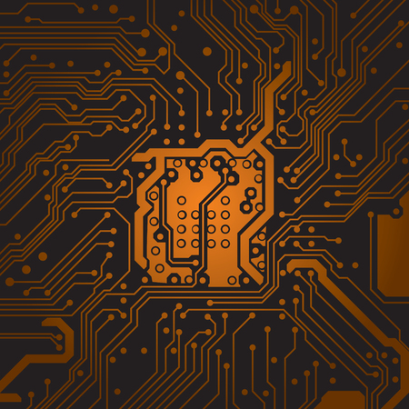 circuit board background texture. Computer technology. Technical vector illustrtion.